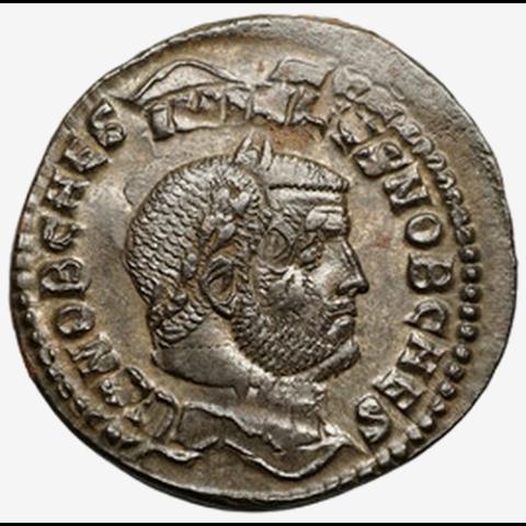 Follis de Maximianus avec frappe inversée avers et revers.. M110