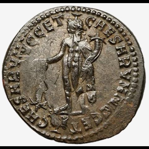 Follis de Maximianus avec frappe inversée avers et revers.. M210
