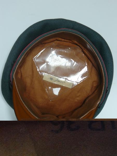 Schirmmutze Kustenartillerie - nominative et tampons unité ? P1080746