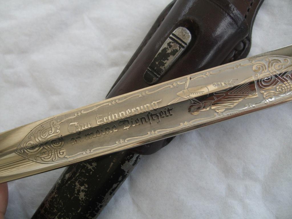 """Baïonnette commémorative """"en souvenir de mon temps"""" de la Luftwaffe. Luft_s13"""