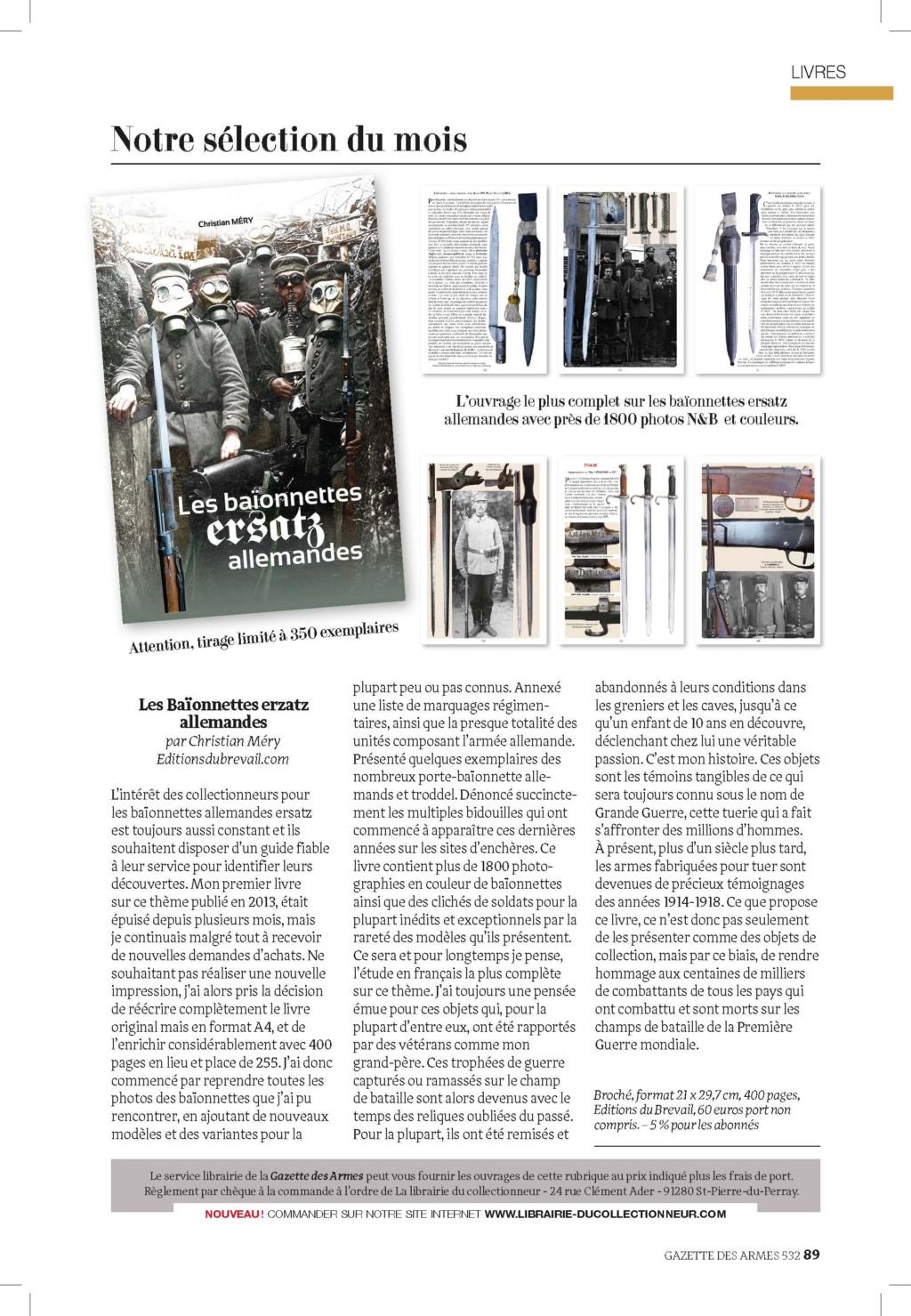 Nouveau livre baïonnettes ersatz allemandes  091-ga12