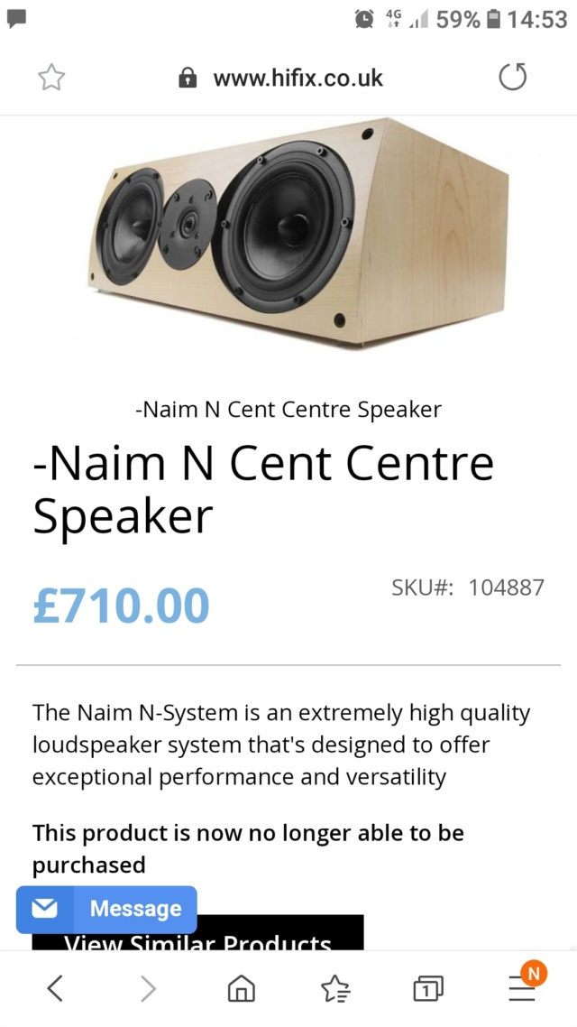 Naim N-Cent Center Speaker (sold) 520
