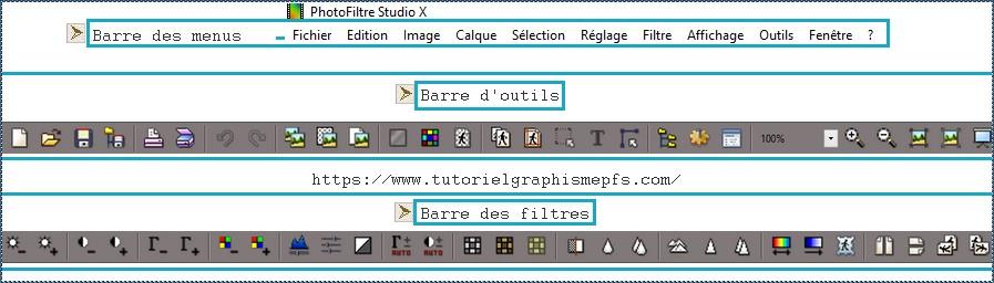 ►Présentation ,Découverte du logiciel PhotoFiltre Studio Barre_10
