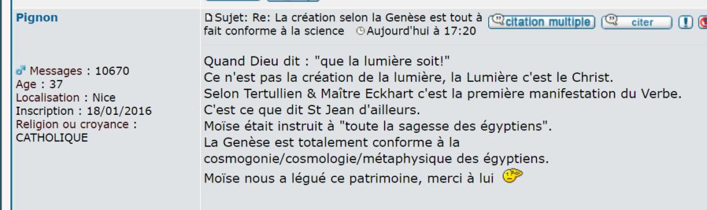 La création selon la Genèse est tout à fait conforme à la science Captu144