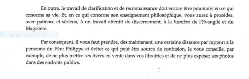 """Les accusation portées contre le Père Marie-Dominique Philippe déclarée """"de forme diffamatoire"""" par Rome - Page 3 Captu173"""