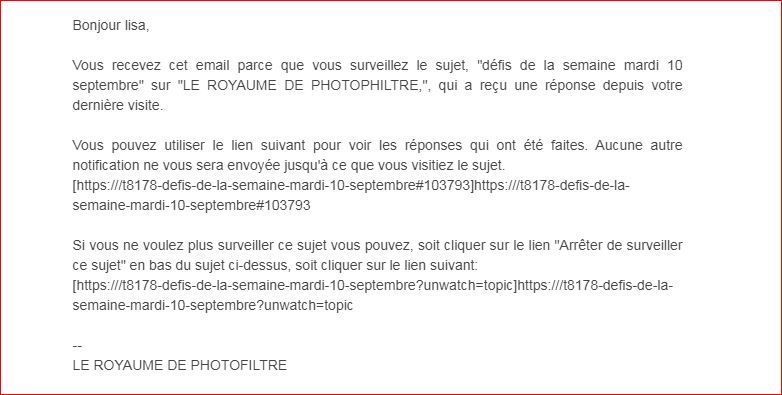 Mails : lien de notification incomplet ou erroné. Captur11