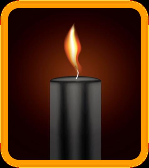 Заклинание с чёрной свечой для удаления негатива. Au_a210