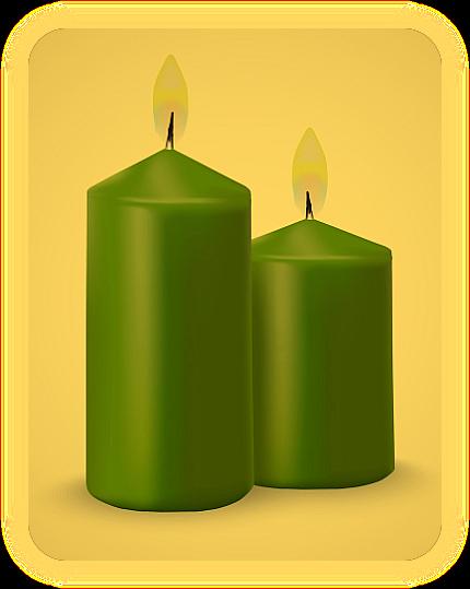 Заклинание с зелёной свечой для хорошего самочувствия. O_a10
