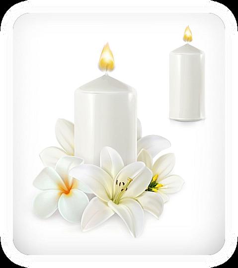 Белая свеча для защиты. U_a_u_10