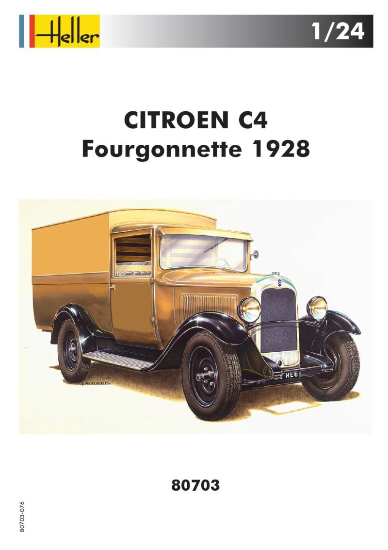 Citroen C4 Fourgonnette 1928 (ref 80703 ) réédition 2018 80703-14