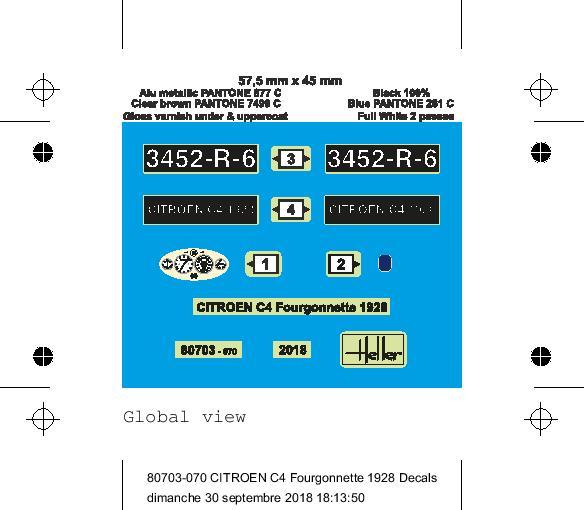 Citroen C4 Fourgonnette 1928 (ref 80703 ) réédition 2018 80703-26