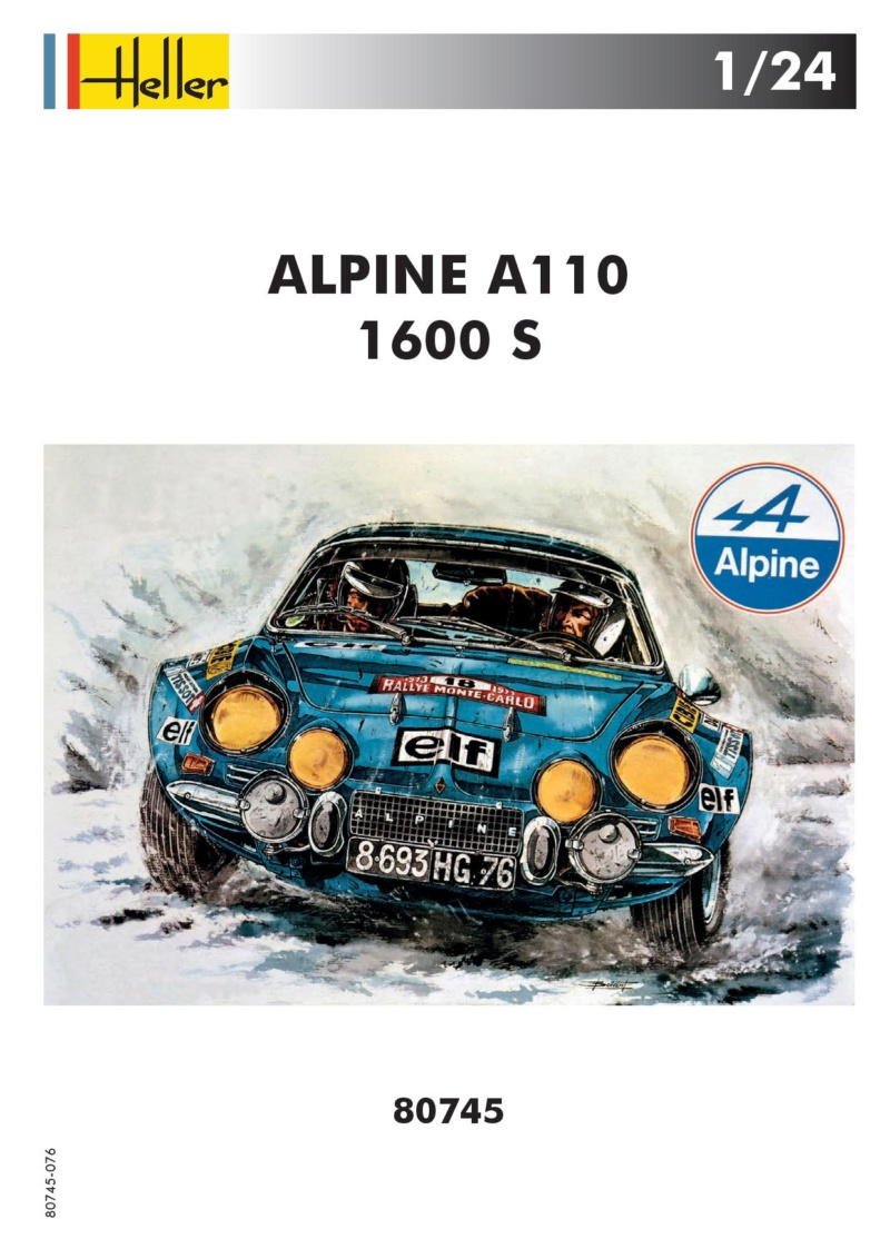 ALPINE A110 1600S Berlinette 1/24e Réf 80745 Notice Réedition 2018 -scoop pour Heller-forever  80745-10