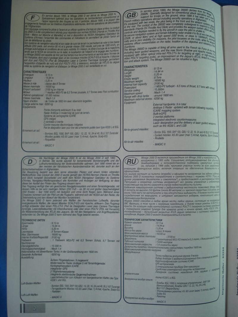 """DASSAULT MIRAGE 2000 D """"Kandahar"""" 1/48ème Réf 83524 Notice Dsc07451"""
