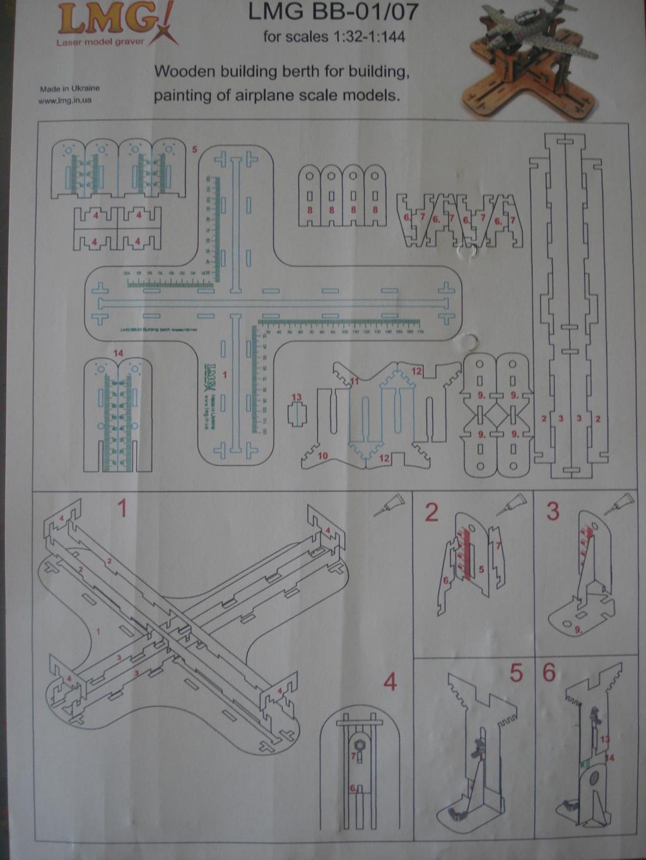 [LMG]Support de construction d'avion 1:32 - 1:144e en bois ref LMG BB-01 Dsc07640