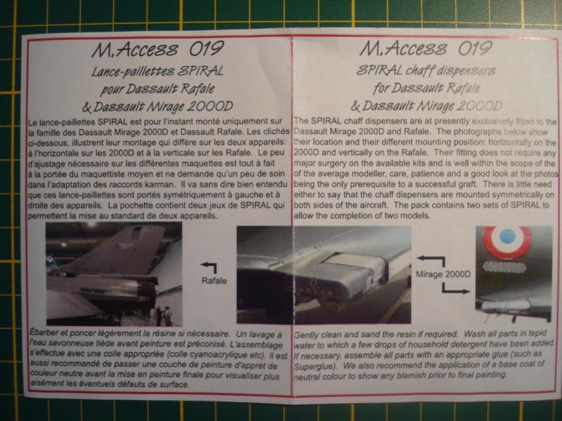 [MODEL ART] DASSAULT MIRAGE 2000 et RAFALE leurres SPIRAL -1/72ème Réf M-ACCESS 019 Dsc08082