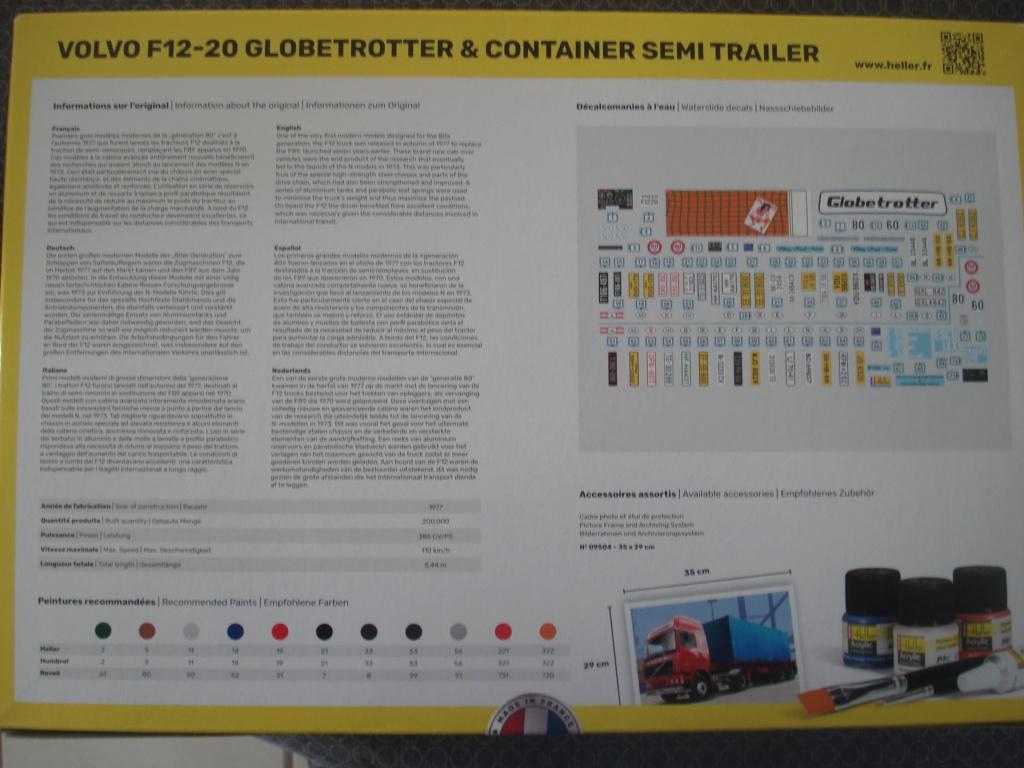 [HELLER] VOLVO F12-20 GLOBETROTTER & CONTAINER Semi Trailer 1/32ème Réf 81702 Dsc08187