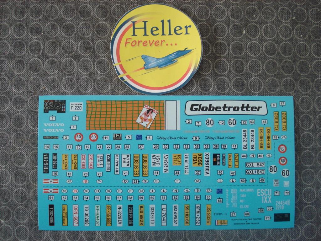 [HELLER] VOLVO F12-20 GLOBETROTTER & CONTAINER Semi Trailer 1/32ème Réf 81702 Dsc08212