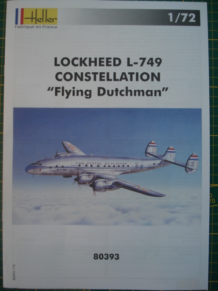 "[HELLER] Lockheed L-749 CONSTELLATION ""flying Dutchman"" 1/72 ref 80393 (2021) Dsc08354"