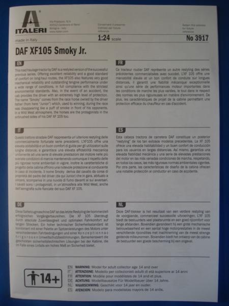 [ITALERI] DAF XF-105 Smoky Jr. 1/24ème Réf 3917 (SHOW trucks ) Notice Dsc08610