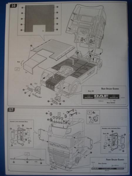 [ITALERI] DAF XF-105 Smoky Jr. 1/24ème Réf 3917 (SHOW trucks ) Notice Dsc08620