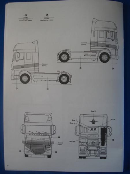 [ITALERI] DAF XF-105 Smoky Jr. 1/24ème Réf 3917 (SHOW trucks ) Notice Dsc08624