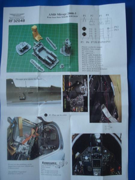 [RENAISSANCE]  DASSAULT MIRAGE 2000-5 pour kit KITTYHAWK 1/32ème Réf 32048 Dsc08654