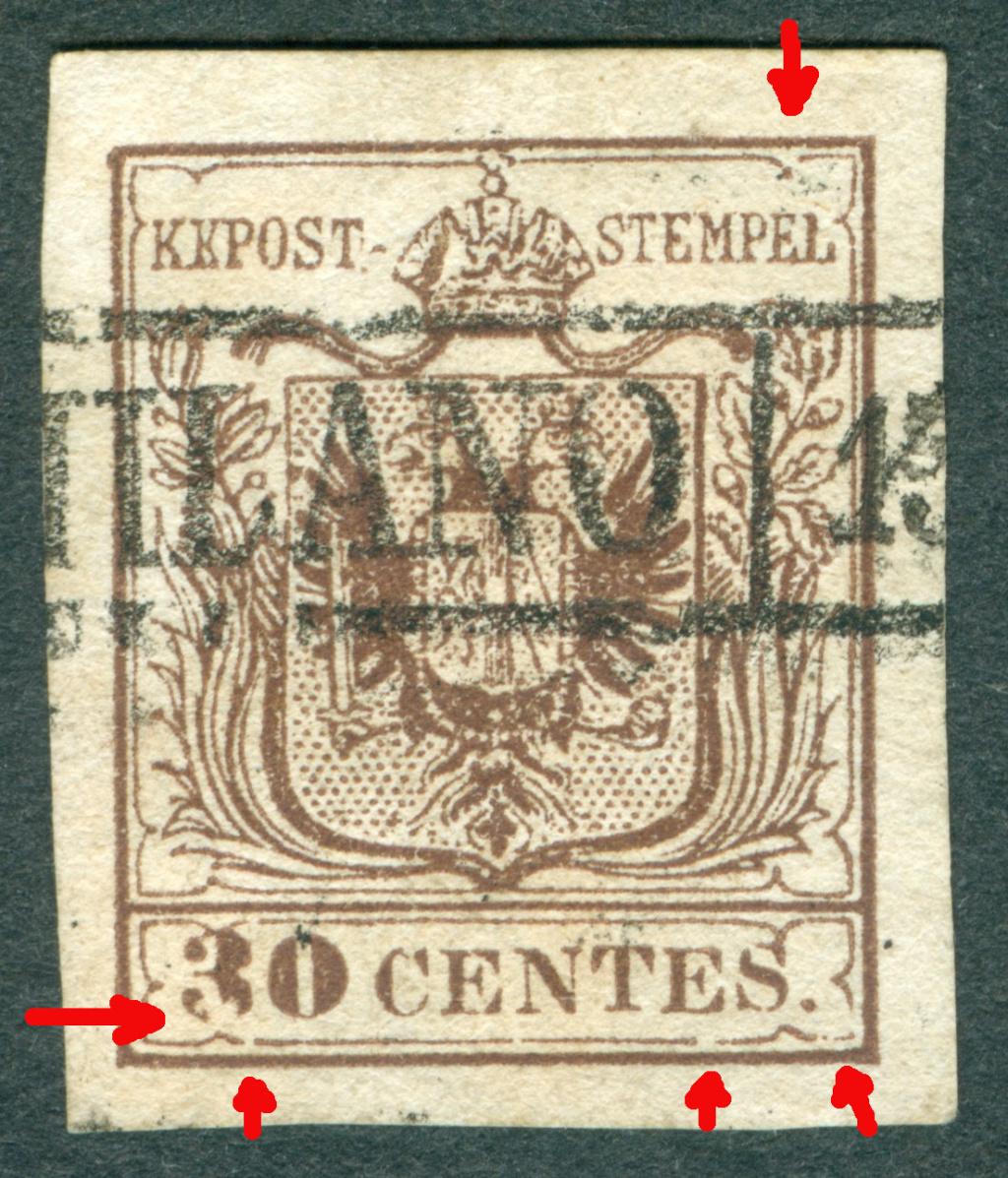 Briefmarken - Lombardei - Venetien 1850 - 1858 - Seite 5 1850_l10