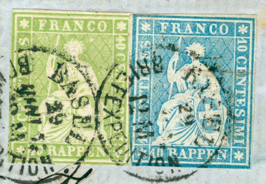 Strubelbrief 1857 von Basel nach Colmar mit 23C und 26C 1857_b15