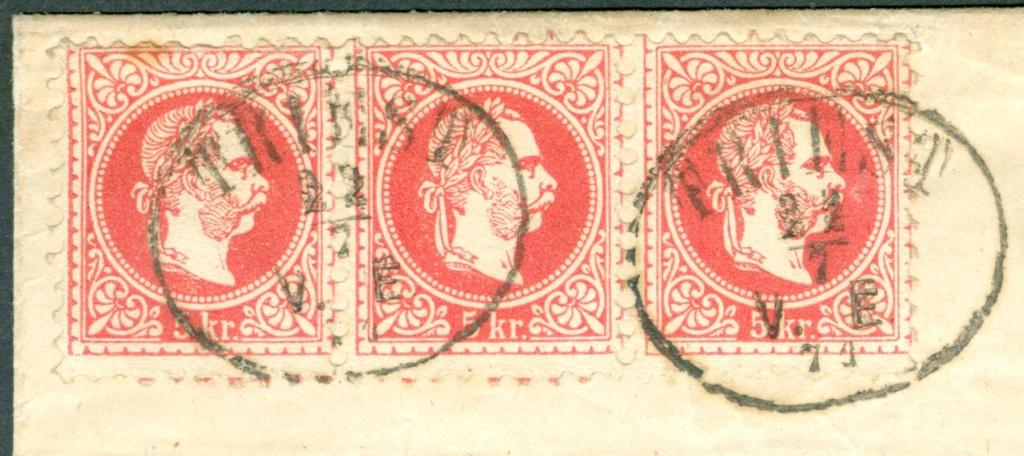 Freimarken-Ausgabe 1867 : Kopfbildnis Kaiser Franz Joseph I - Seite 21 1871_t10