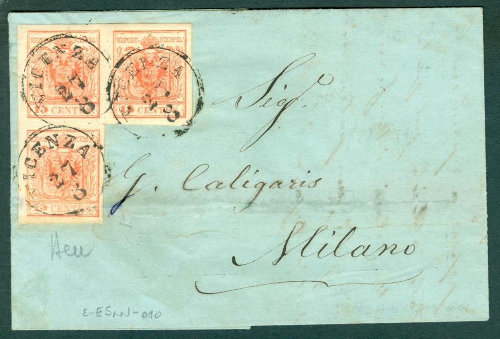 Briefmarken - Lombardei - Venetien 1850 - 1858 - Seite 5 Austri12