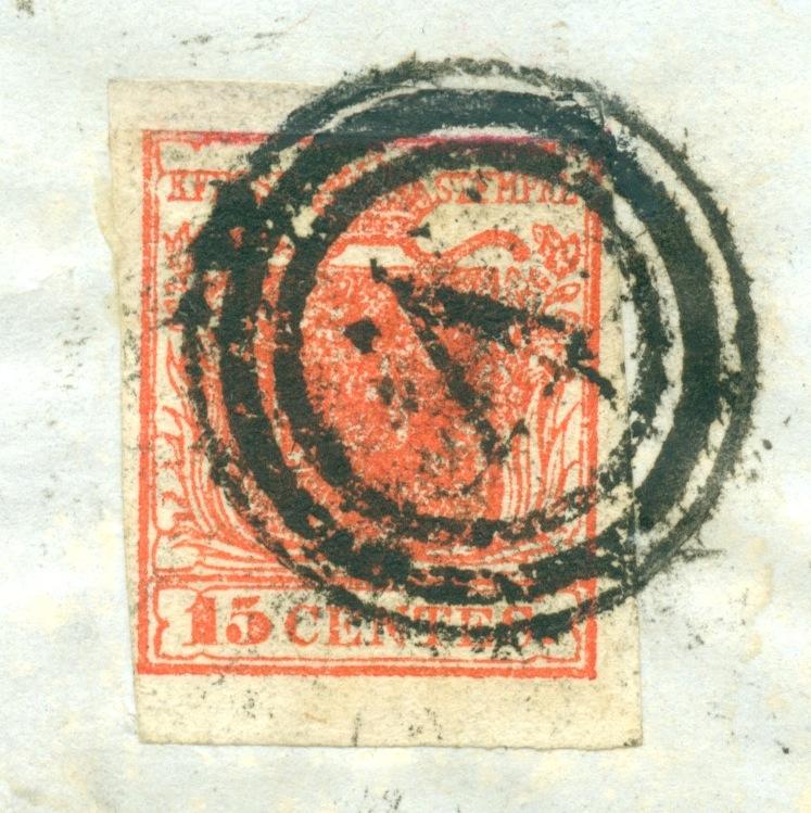 Briefmarken - Lombardei - Venetien 1850 - 1858 - Seite 5 Austri15