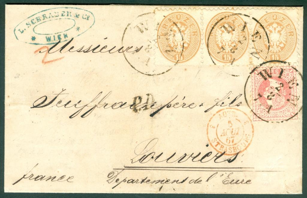 Nachtrag - Freimarken-Ausgabe 1867 : Kopfbildnis Kaiser Franz Joseph I - Seite 21 Austri26