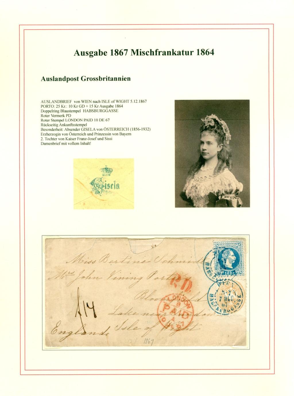 Nachtrag - Freimarken-Ausgabe 1867 : Kopfbildnis Kaiser Franz Joseph I - Seite 23 Gisela12