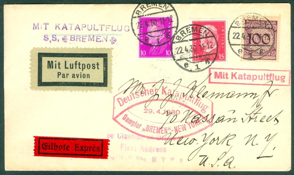 Katapultflugpost Deutschland-New York Katapu11
