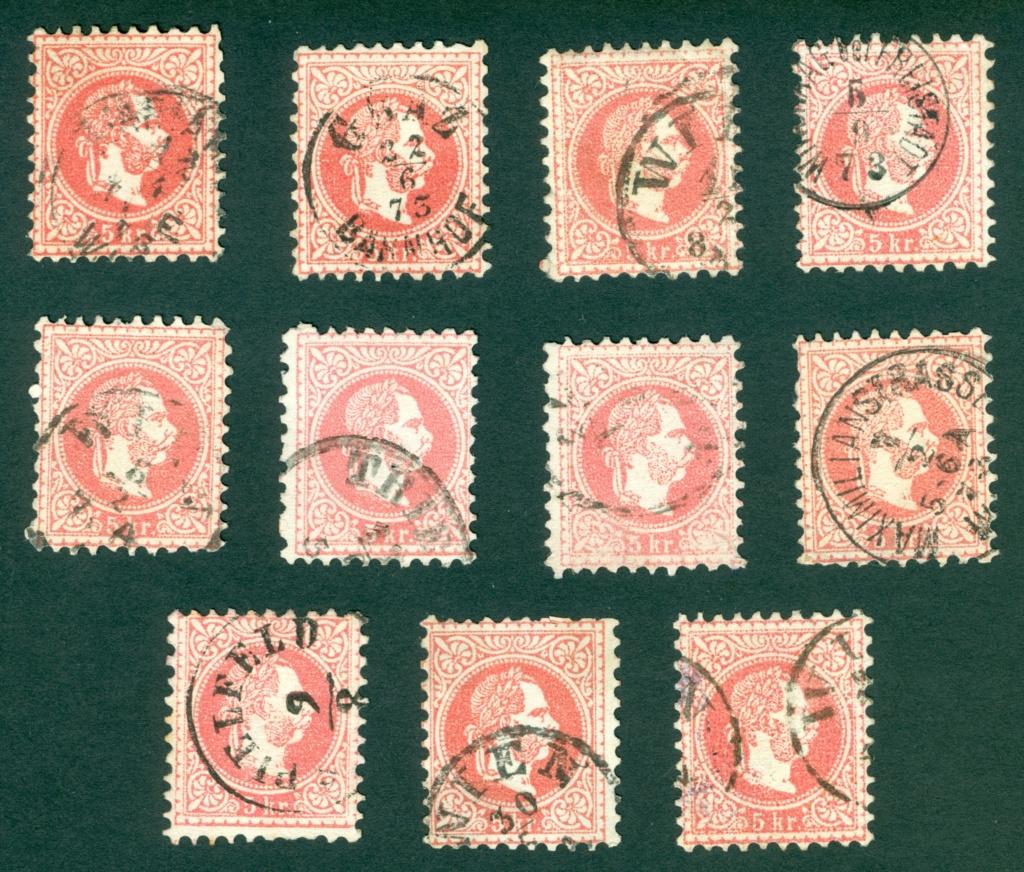 Freimarken-Ausgabe 1867 : Kopfbildnis Kaiser Franz Joseph I - Seite 21 Punkti10