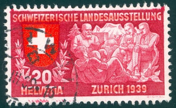 SBK 220 (Mi 336) Geistiges Leben, deutsch Randfl12