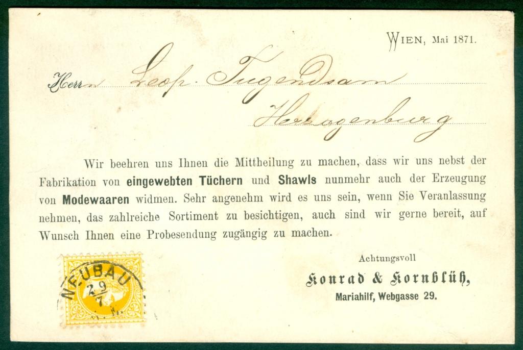 Freimarken-Ausgabe 1867 : Kopfbildnis Kaiser Franz Joseph I - Seite 21 Werbun10
