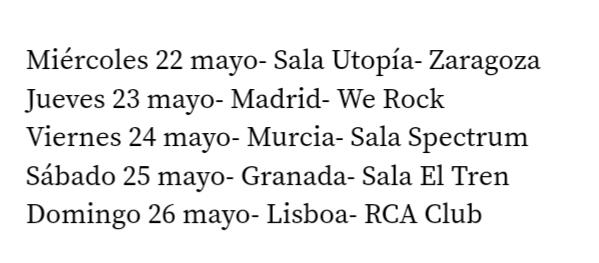 Agenda de giras, conciertos y festivales - Página 15 20190315