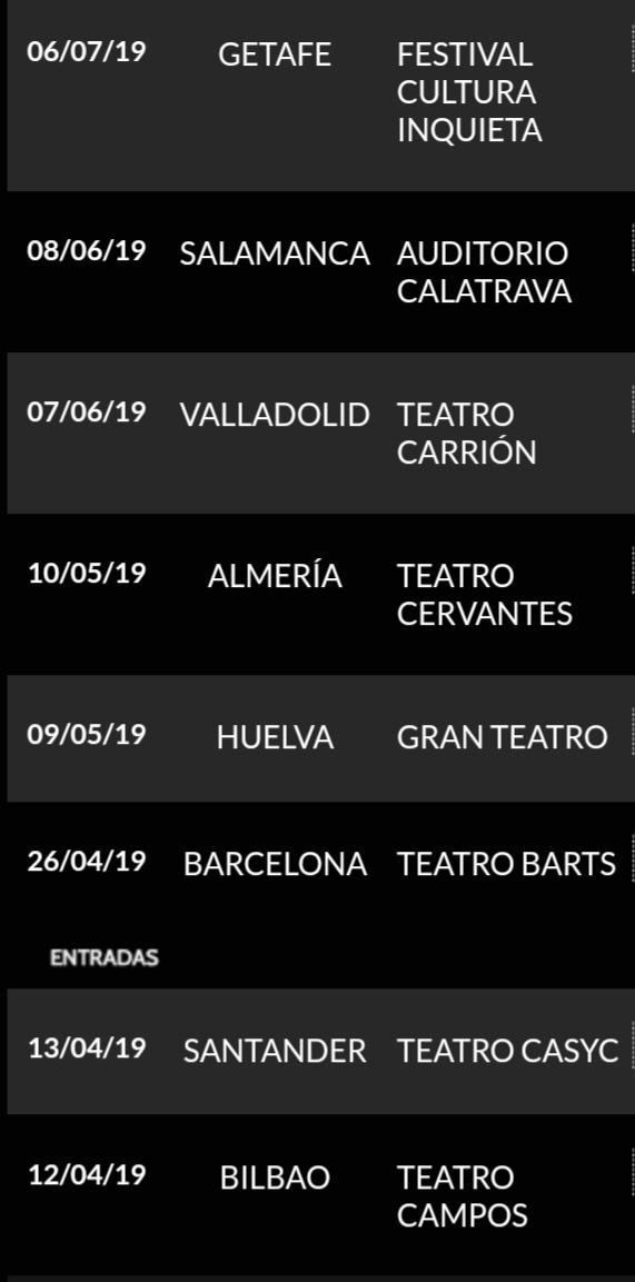 Agenda de giras, conciertos y festivales - Página 16 20190420