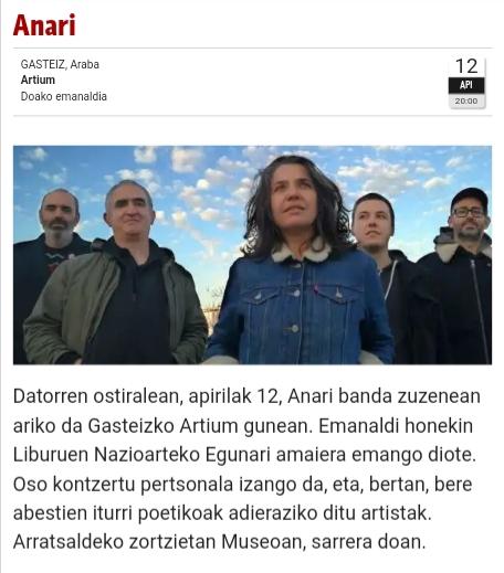 Kontzertuak Gasteizen eta Araban. Conciertos en Vitoria y Alava - Página 6 20190421