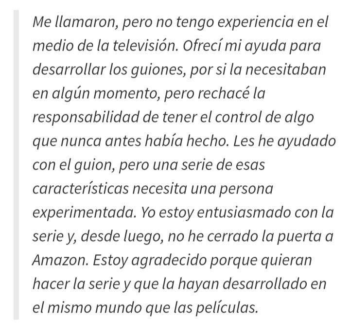 El señor de los anillos. Serie Amazon 2021 20200110