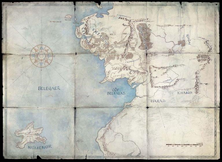El señor de los anillos. Serie Amazon 2021 Mapa-s10