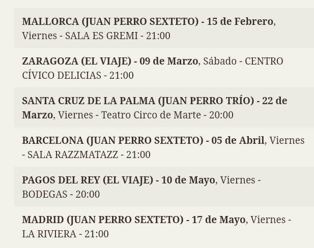 Agenda de giras, conciertos y festivales - Página 10 Screen70