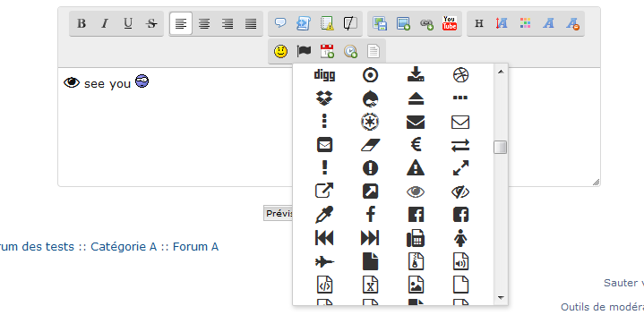 Font Awesome knop in de text editor Fasce111
