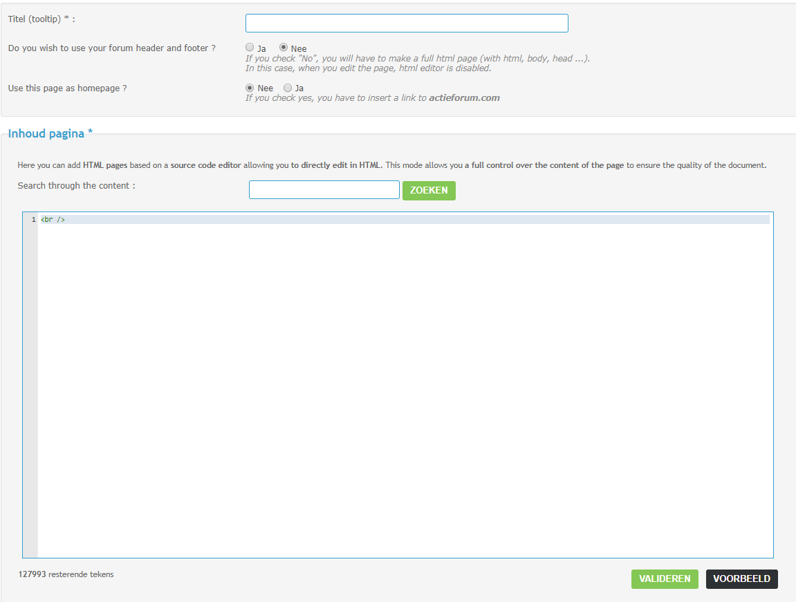 Gebruik HTML-pagina's en iframes op uw forum Html_p11