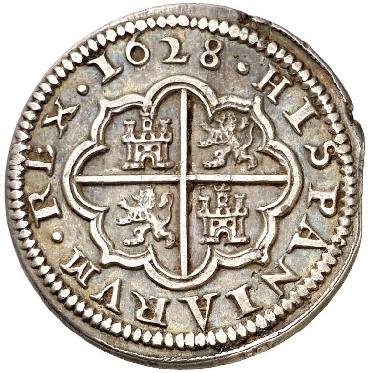 2 reales 1628 Segovia, Felipe IV 45696610