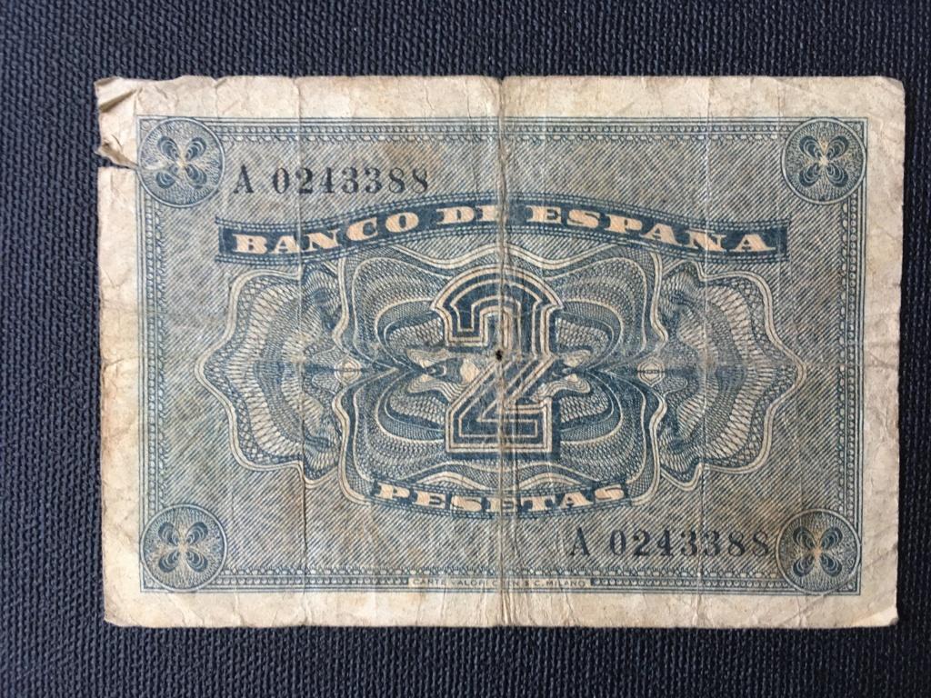2 pesetas 1937 serie A. Para control estadístico y valoración de conservación. Img_0010