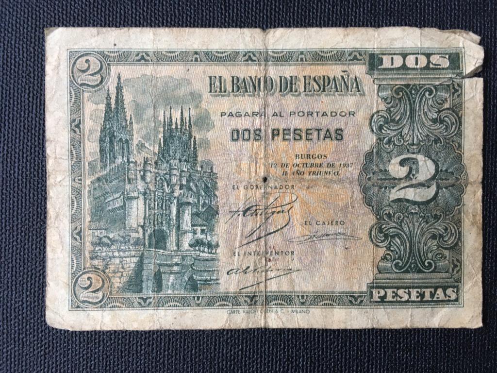 2 pesetas 1937 serie A. Para control estadístico y valoración de conservación. Img_0011