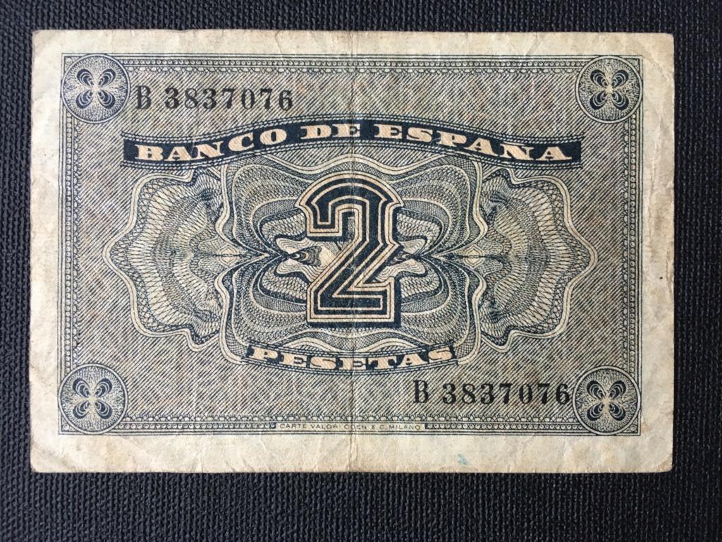 2 pesetas 1937 serie B. Para control estadístico y valoración de conservación. Img_0016