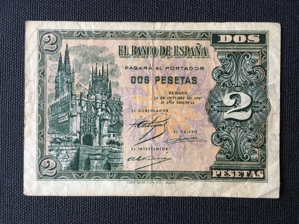 2 pesetas 1937 serie B. Para control estadístico y valoración de conservación. Img_0017